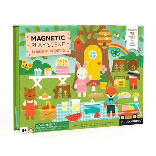 משחק מגנטי – בית עץ