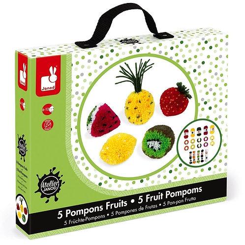 יצירת פונפונים בצורת פירות