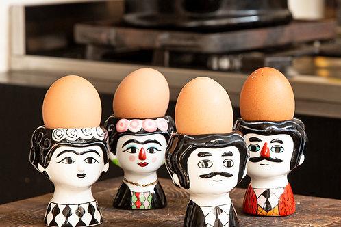 זוג כלים לביצה קרלוס ומריסול שחור לבן SOFI | KITSCH KITCHEN