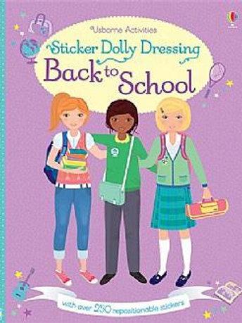 חוברת 250 מדבקות רב פעמיות מלבישים - בחזרה לבית הספר