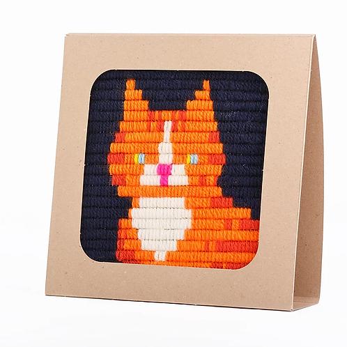 ערכת רקמה - חתול ג'ינג'י