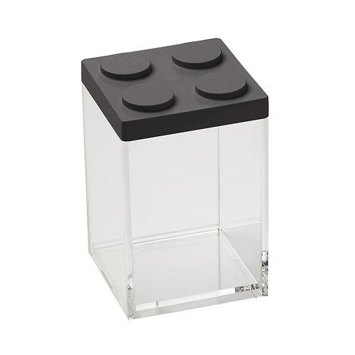 קופסת איחסון מודולרית לגו - שחור