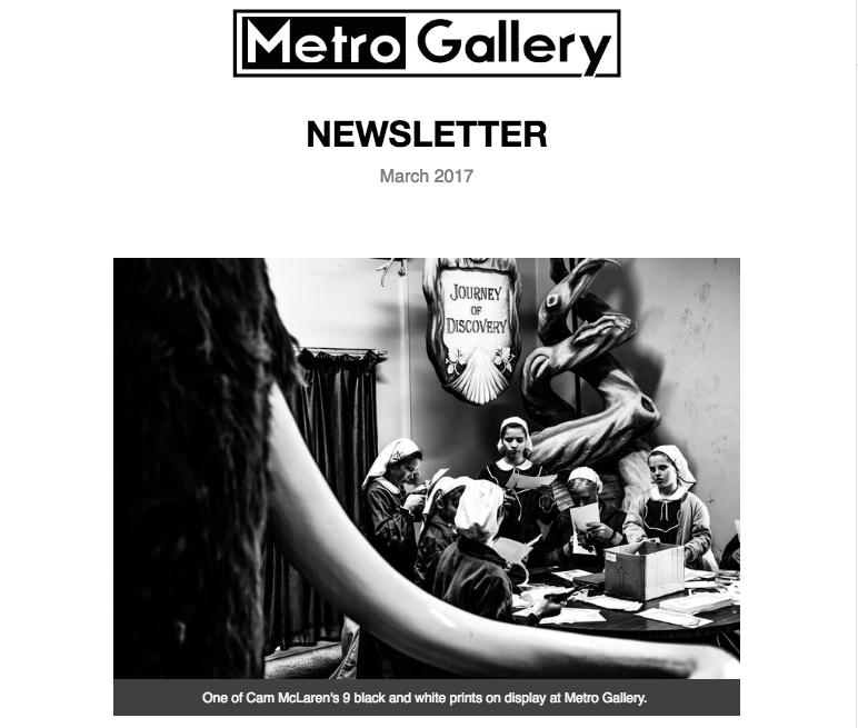 Metro Gallery - photo gallery Auckland Newsletter