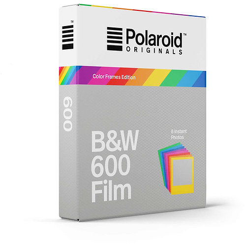 Polaroid Originals B&W 600 Instant Film (Color Frames Edition, 8 Exp)