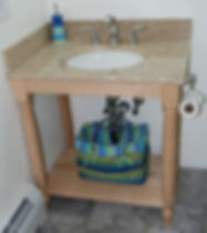 maple bathroom washstand