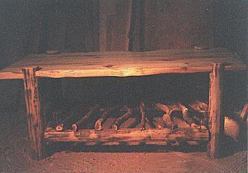 rustic aspen coffee table