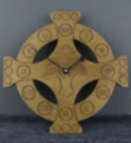 celtic cross cedar of lebanon clock