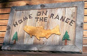 home on the range sign