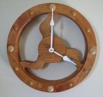 cherry flywheel clock