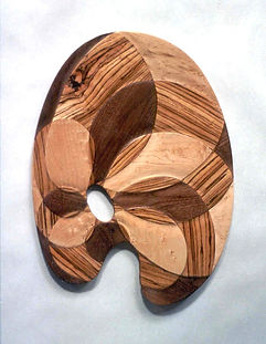 hardwood intarsia palette