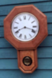cherry schoolhouse clock