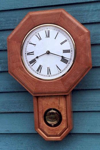 cherry schoolhouse clock