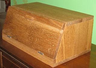 quarter-sawn white oak bread box