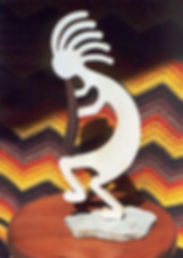 handcrafted kokopelli sculpture