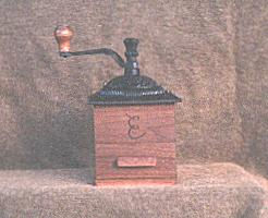 monogrammed walnut coffee grinder