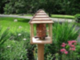 closeup--cedar & redwood prayer wheel pagoda