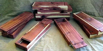 custom cedar groomsmen boxes