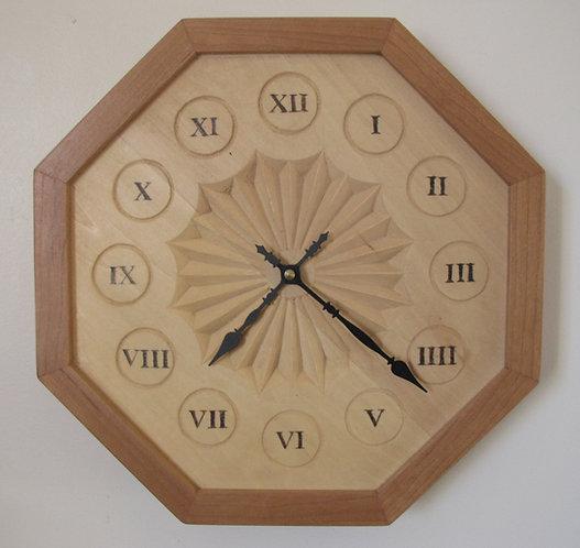 Chip Carved Rosette Clock
