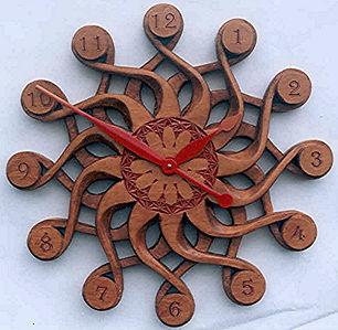 handcarved solaris clock