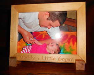 carved basswood picture frame