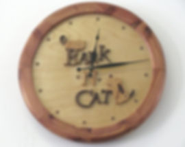 BarknCat retail store clock