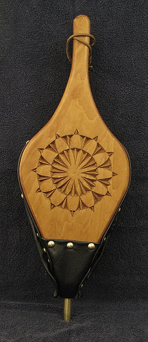 Chip Carved Fireplace Bellows - Rosette #9