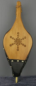 chp carved snowflake fireplace bellows