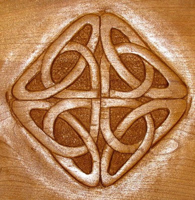 celtic cradle carving