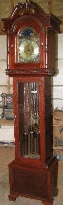 traditional mahogany grandfather clock-2