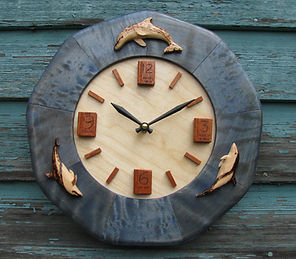 dolphin-book wall clock