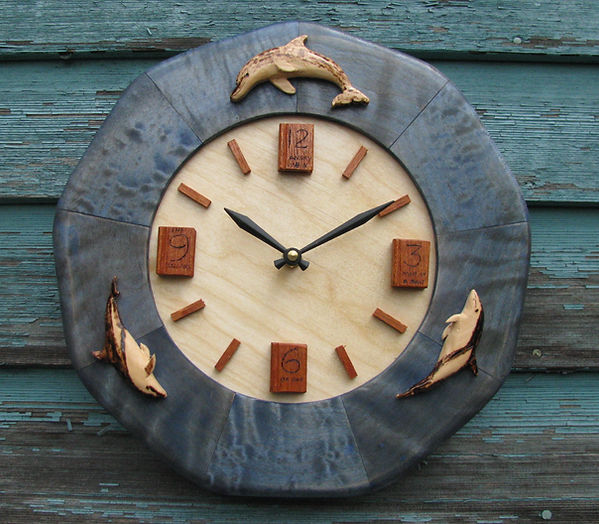 dolphin book wall clock