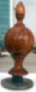 mahogany finial