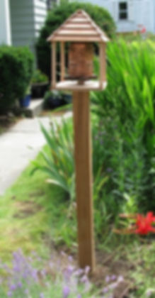 cedar & redwood prayer wheel pagoda