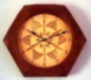 basswood & jatoba chip carved clock