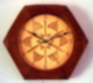 basswood and jatoba chip carved cloc