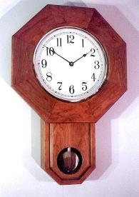 Handcrafted Schoolhouse Clock