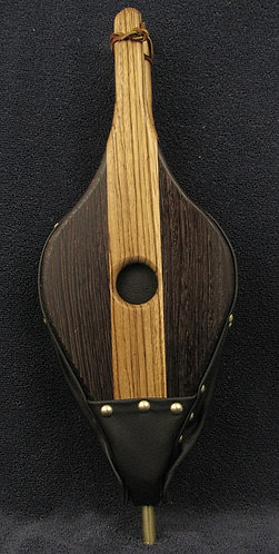 Zebrawood and Wenge Fireplace Bellows