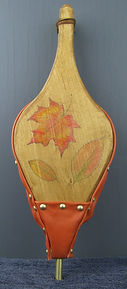 hand painted fall leaves fireplace bellows