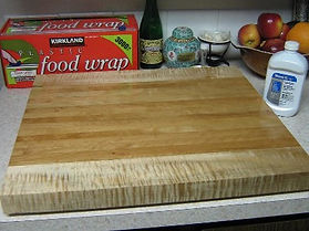 cherry & tiger maple cutting board
