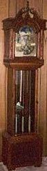 traditonal mahogany grandfather clock-1