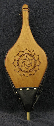 Chip Carved Fireplace Bellows - Rosette #8