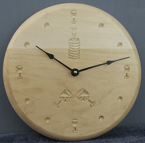 Chip Carved Wine Clock