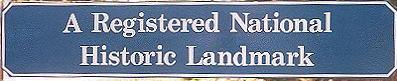 registered national historic landmark sign