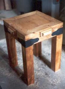 small pine end table