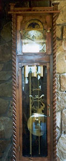 spanish colonial grandfather clock