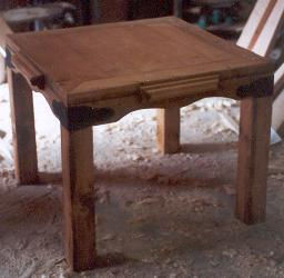 large pine end table