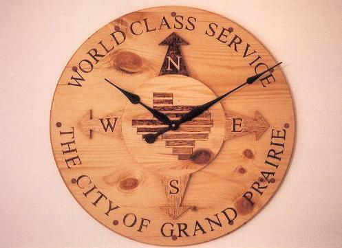 large pine conference room clock