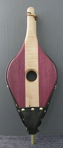 Tiger Maple and Purpleheart Fireplace Bellows