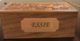 walnut cremains box