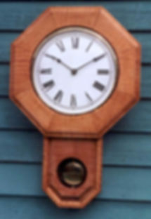 tier maple schoolhouse clock